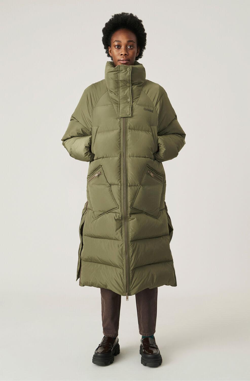 가니 오버사이즈 패딩 롱자켓 Ganni Recycled Polyester Oversized Puffer Coat,Kalamata