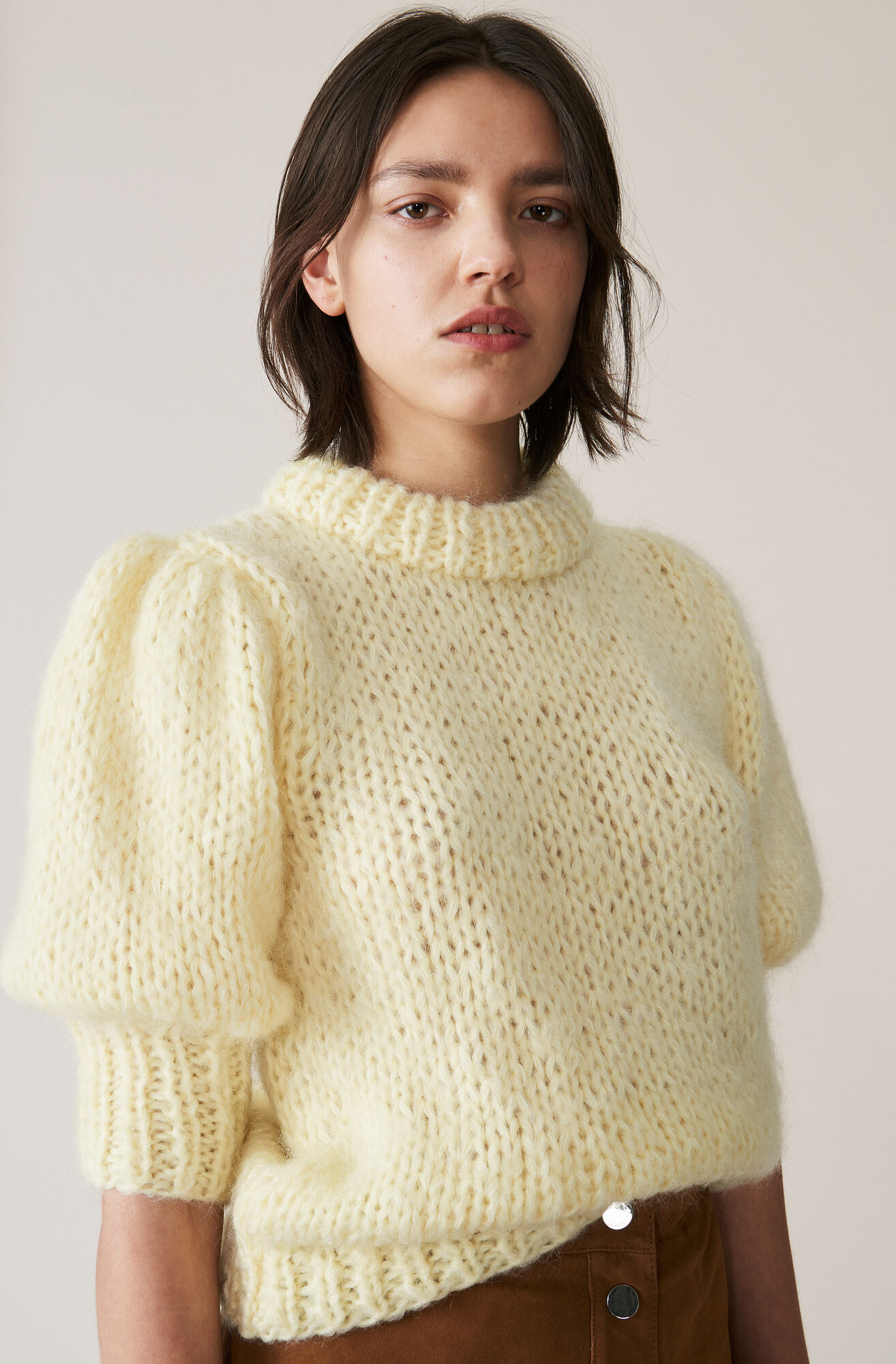 The Julliard Mohair Puff Sleeve Pullover, Anise Flower, hi-res