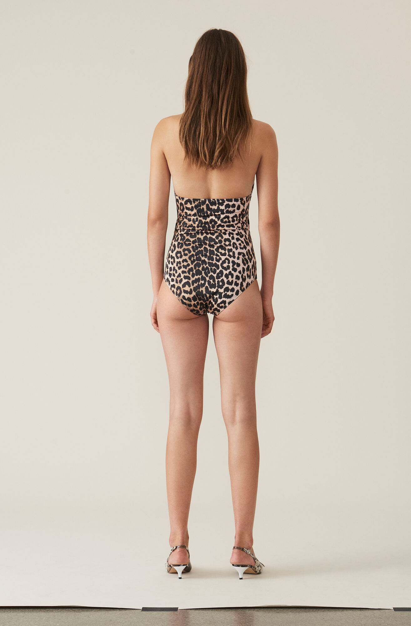 All-over Print Swimwear Badedragt, Leopard, hi-res