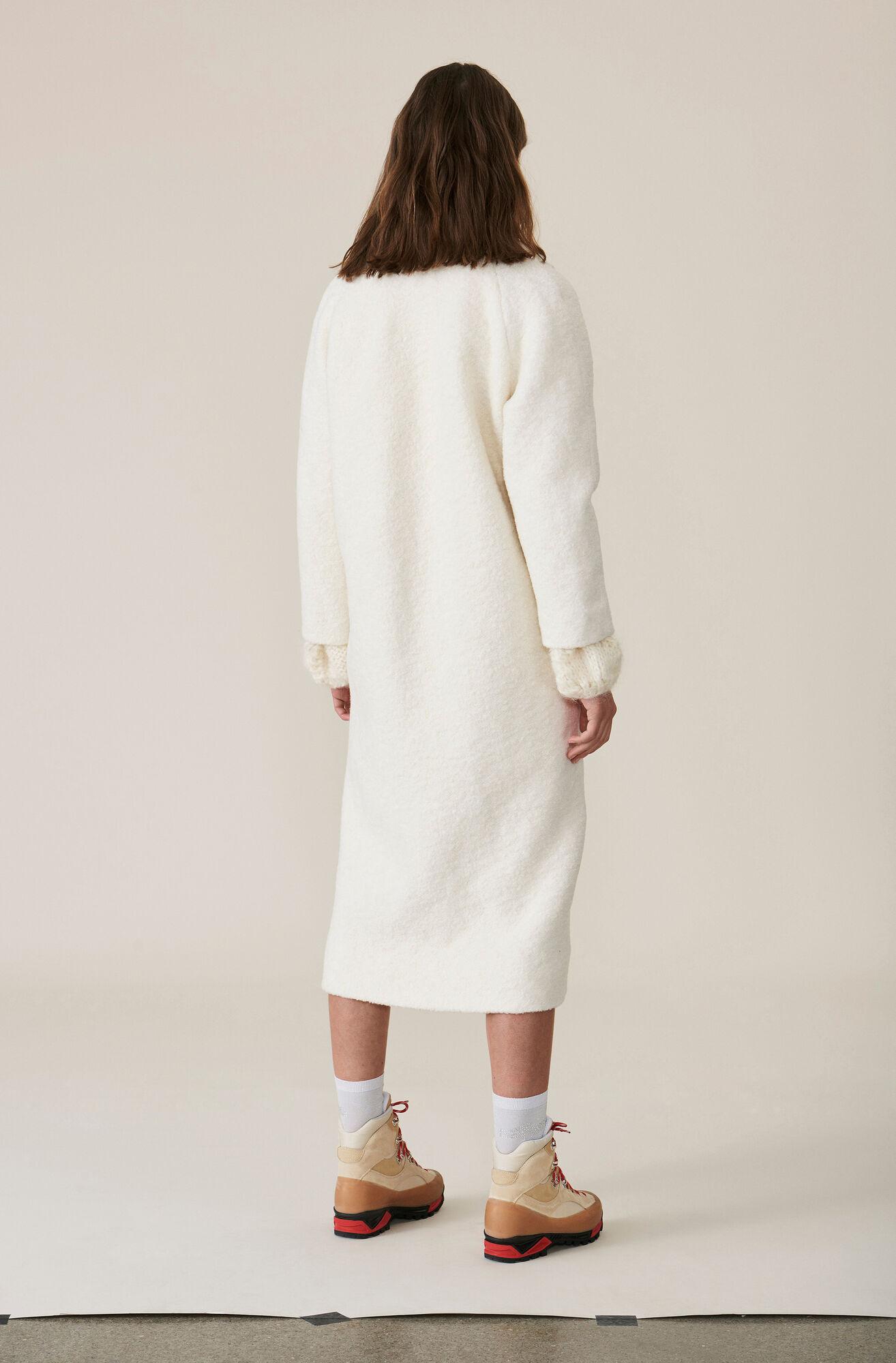 Fenn Long Wrap Coat, Egret, hi-res