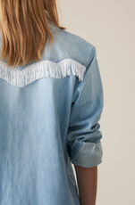 Soft Denim Hemd, Bleached Denim, hi-res