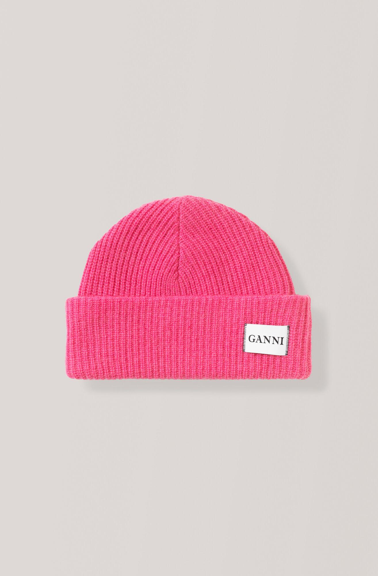 Knit Hat, Hot Pink, hi-res