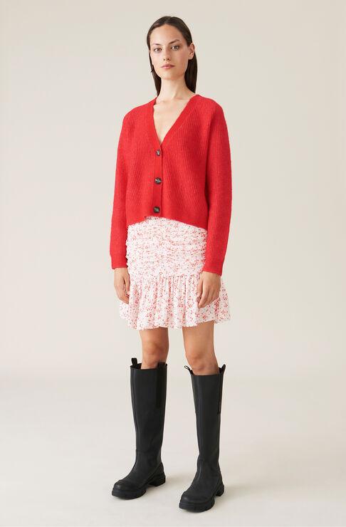 Ganni Mini skirts PRINTED GEORGETTE MINI SKIRT