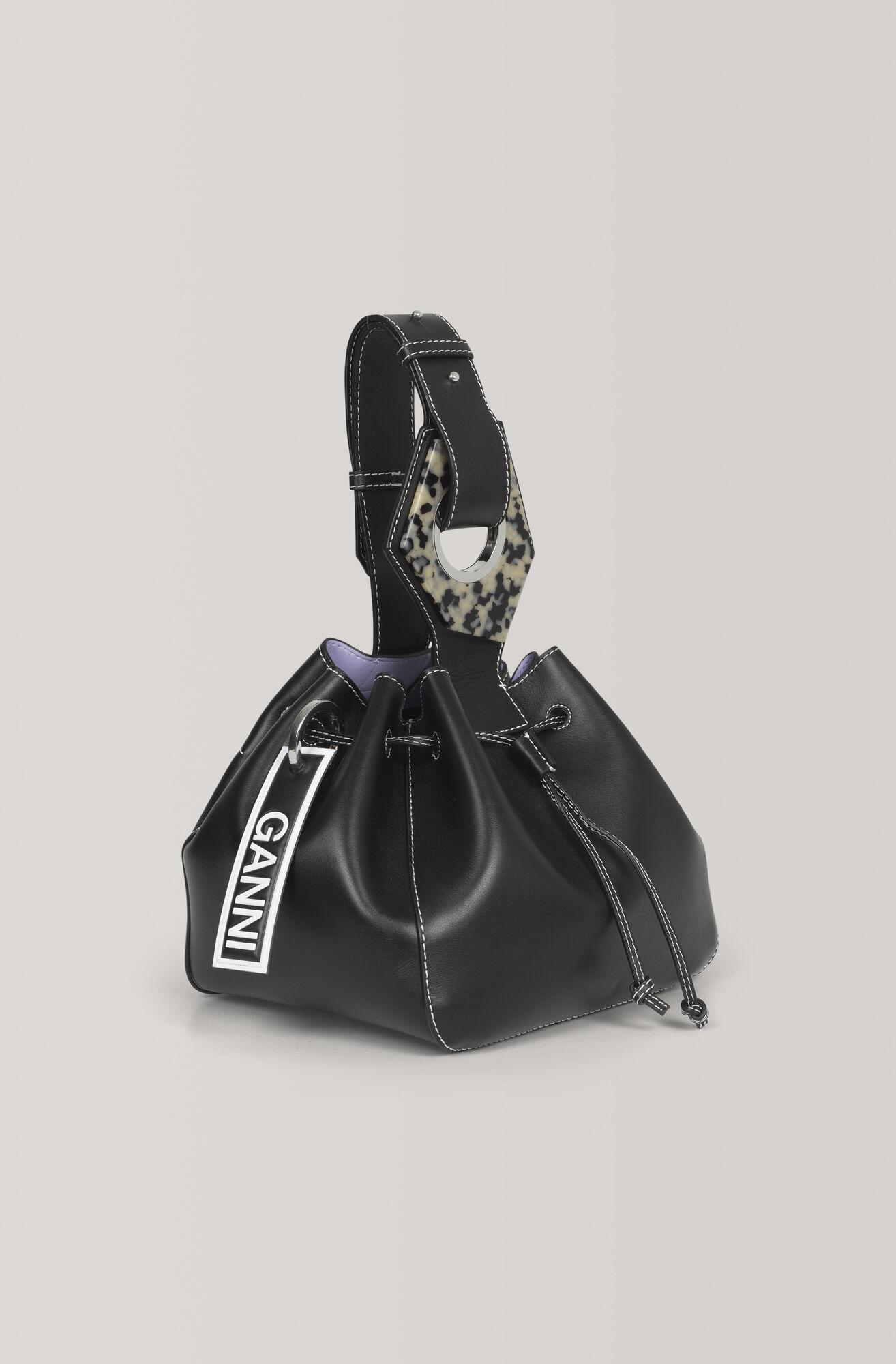 Leather Small Drawstring Bag