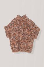 Hand Knit Wool Rollneck, Caramel Café, hi-res