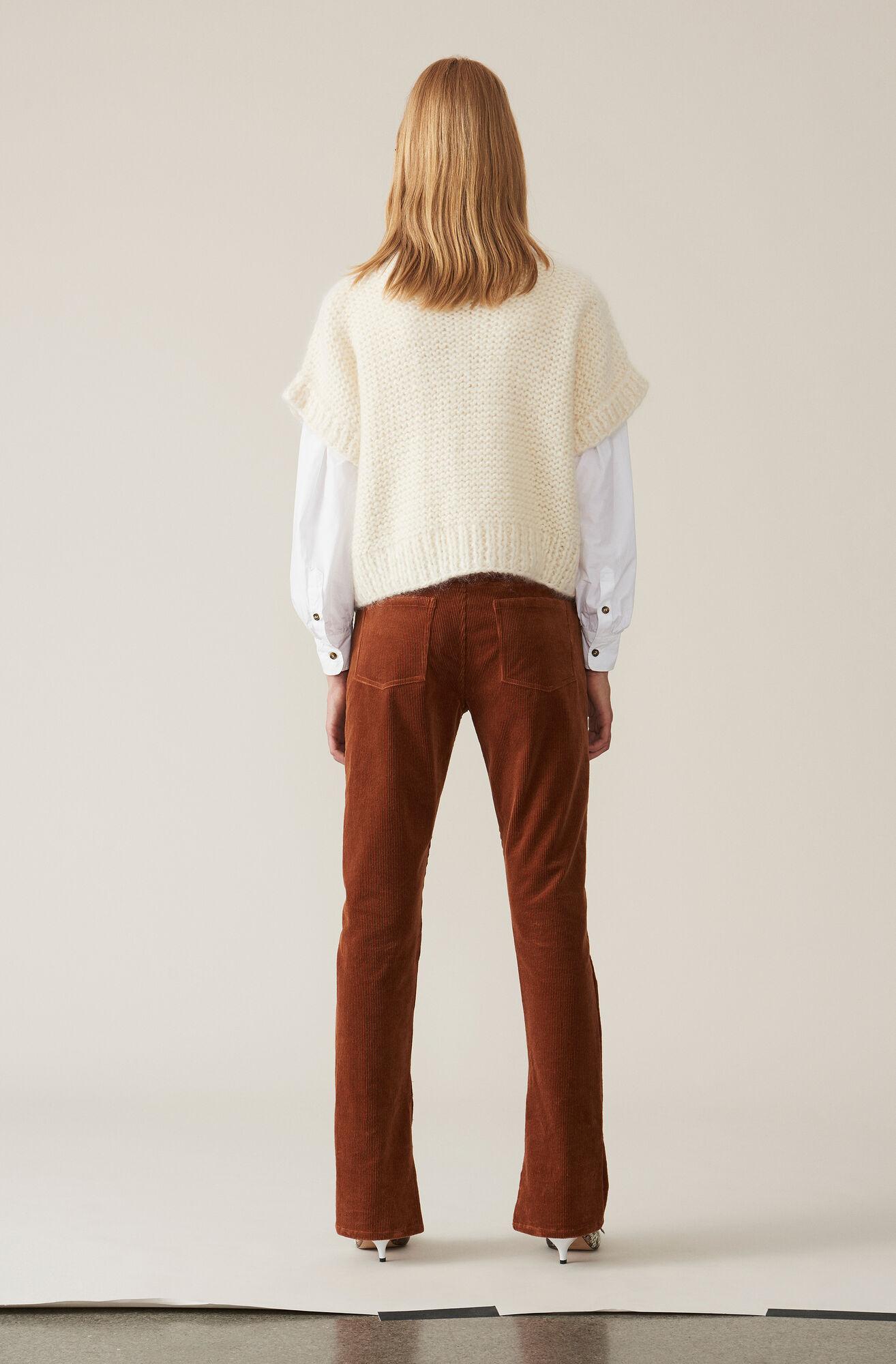 Hand Knit Wool Pullover, Egret, hi-res