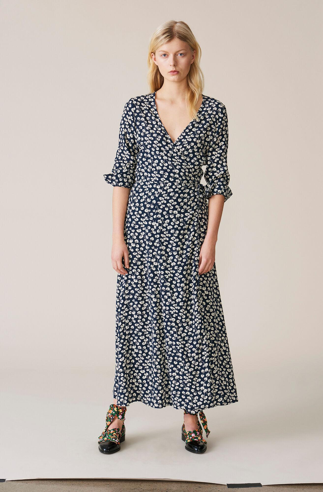 558916bb Roseburg Crepe Wrap Dress