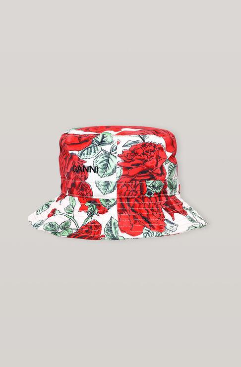 Ganni SEASONAL RECYCLED TECH BUCKET HAT