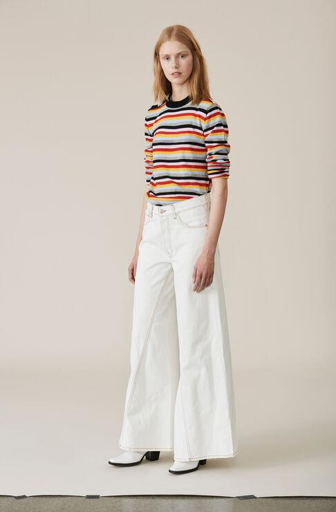 Ivory Cashmere Pullover, Multicolour, hi-res