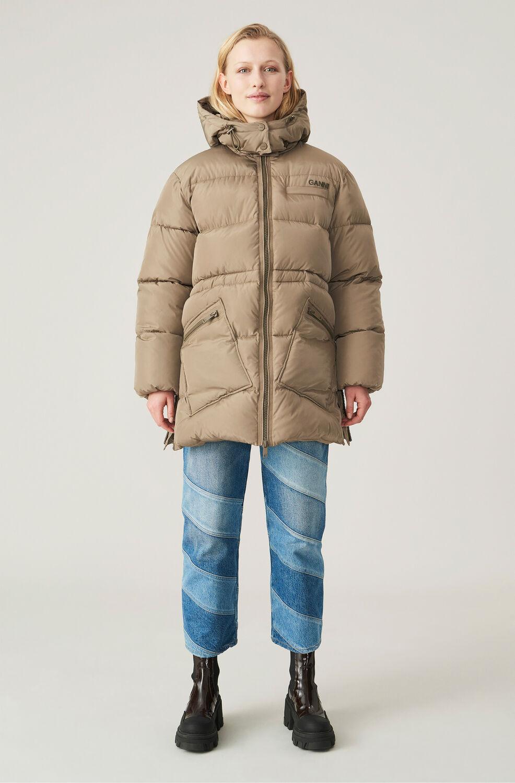 가니 오버사이즈 패딩 자켓 Ganni Recycled Polyester Oversized Puffer Midi Jacket,파슬 Fossil