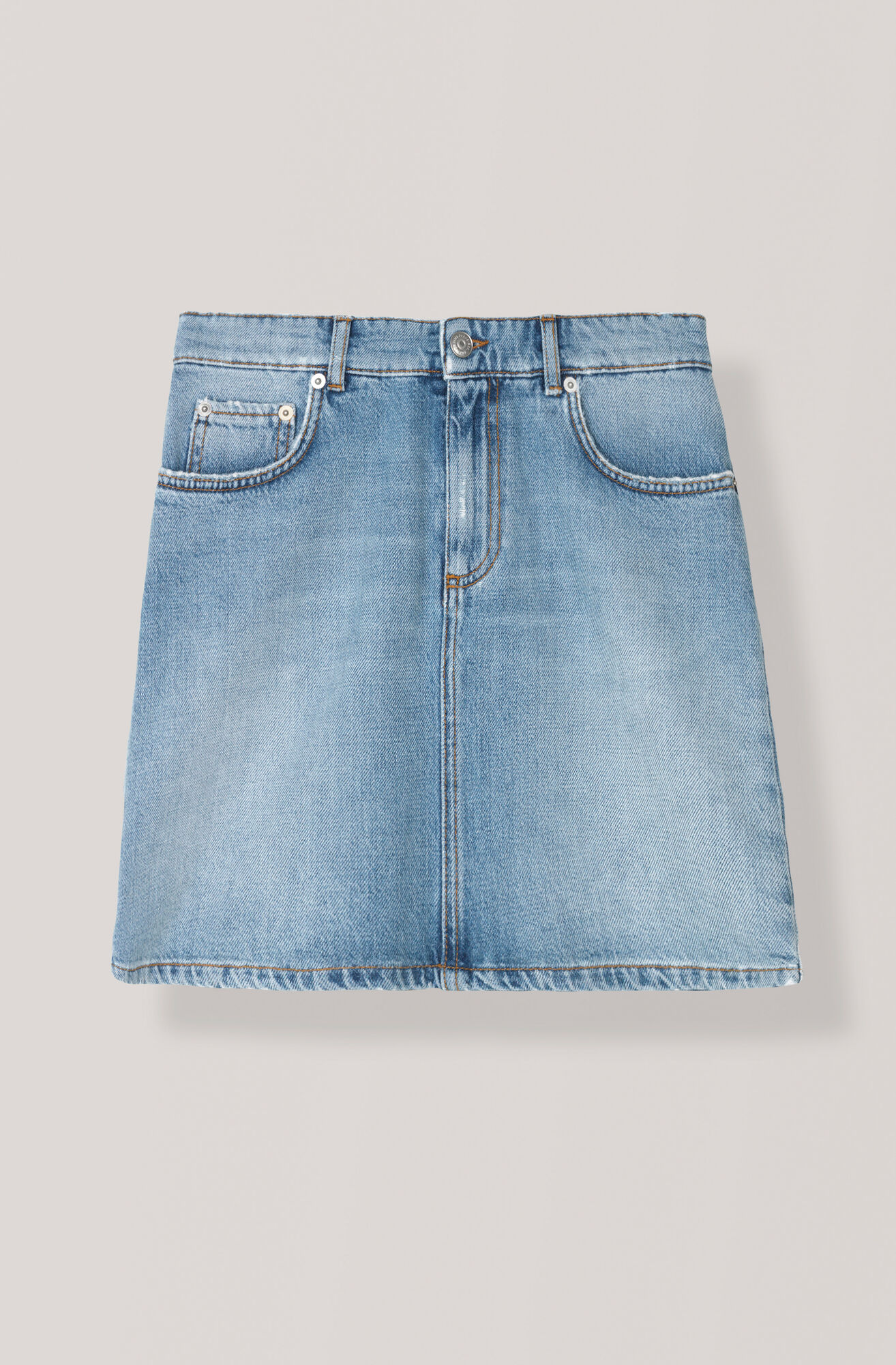 Denim Skirt, Light Denim, hi-res