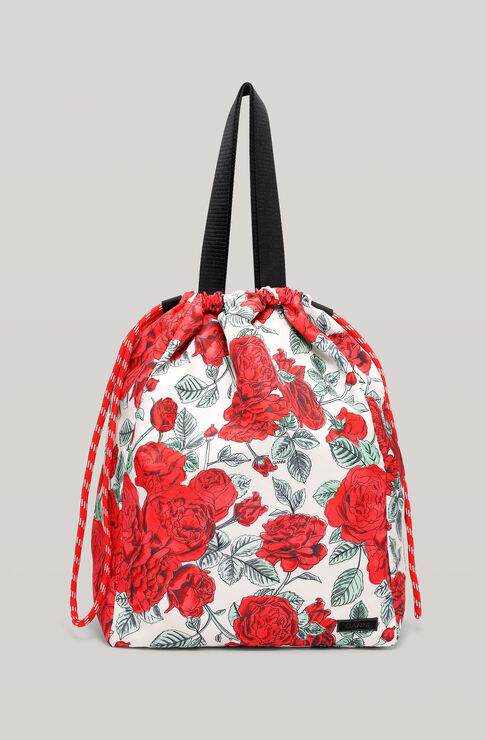 Ganni SEASONAL RECYCLED TECH DRAWSTRING TOTE