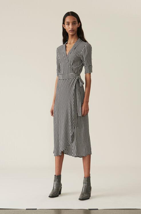 354db2854227 Printed Crepe Wrap Dress