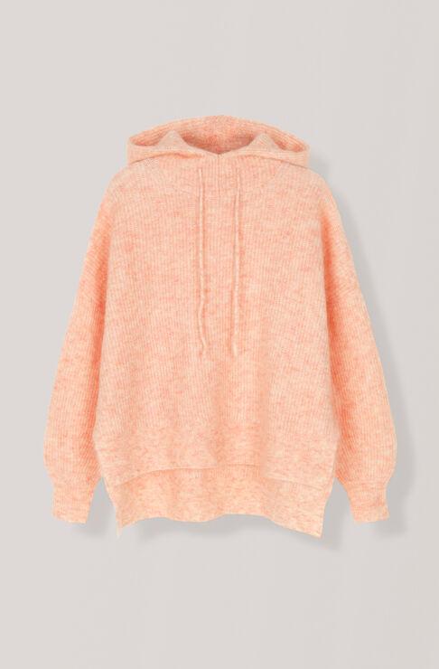 Soft Wool Knit Hoodie, Silver Pink, hi-res