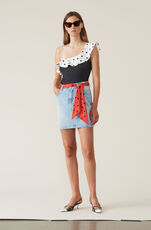 Oversized Print Swimwear One-shoulder Badedrakt, Multicolour, hi-res
