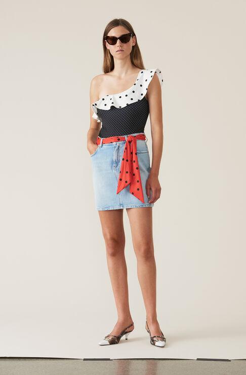 Oversized Print Swimwear One-shoulder Badedragt, Multicolour, hi-res
