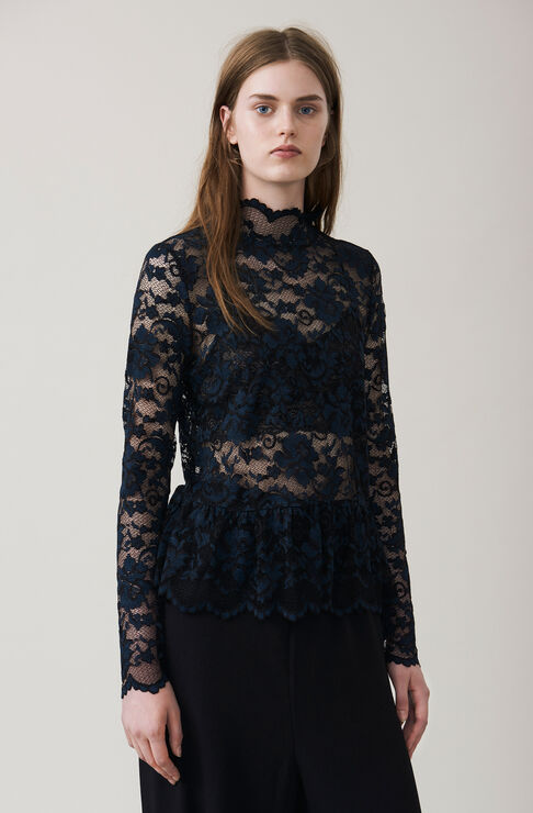Flynn Lace Blouse, Black, hi-res