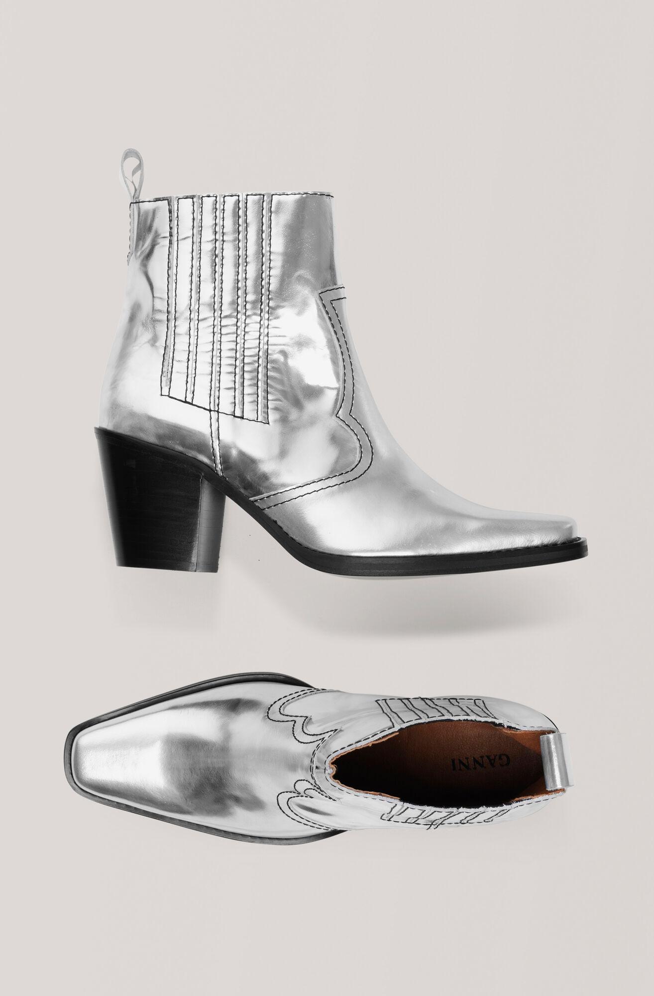 Western Stövlar, Silver, hi-res