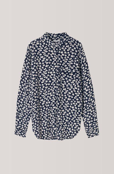 Roseburg Crepe Shirt, Total Eclipse, hi-res
