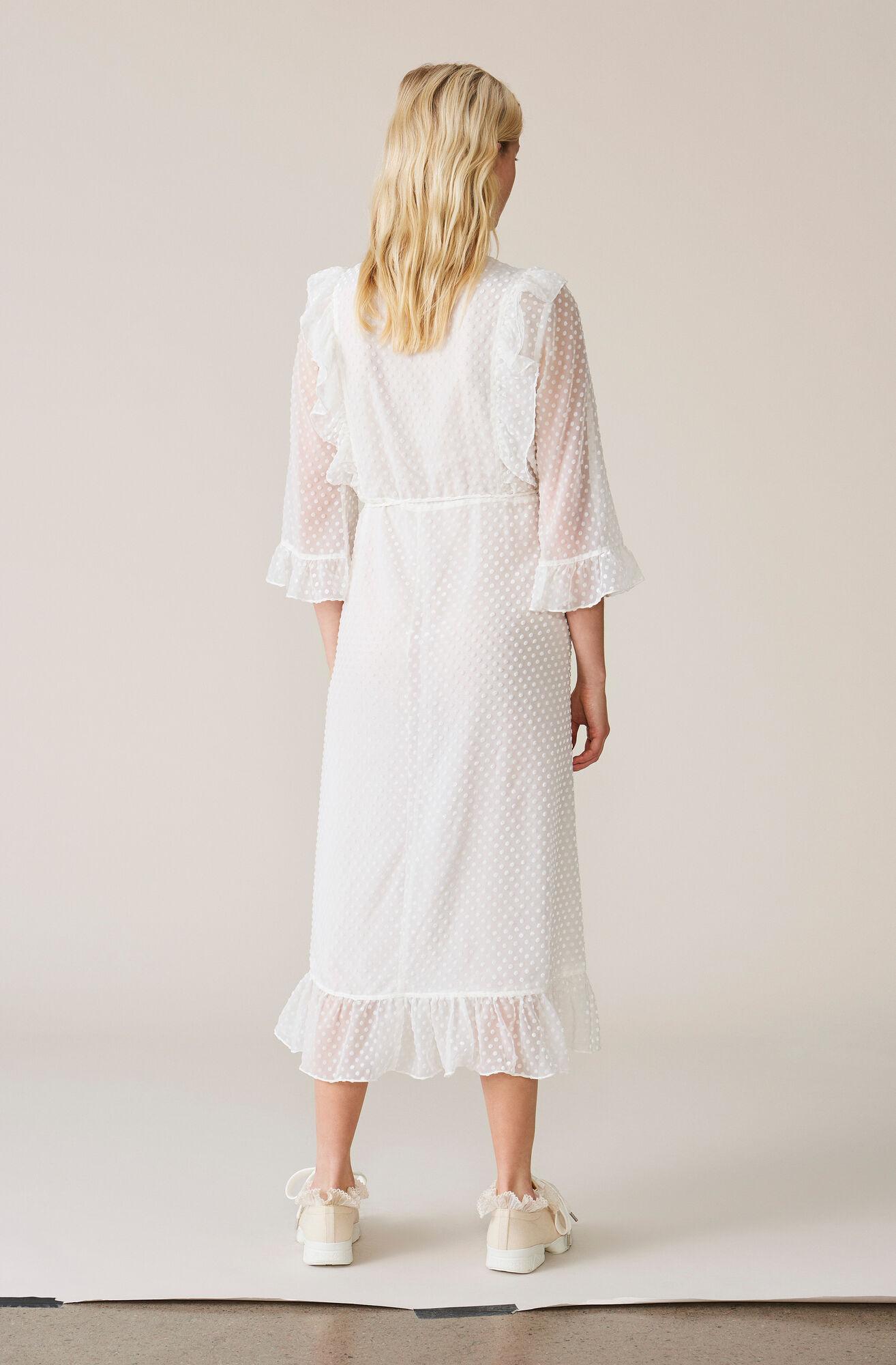 Jasmine Wrap Dress, Egret, hi-res