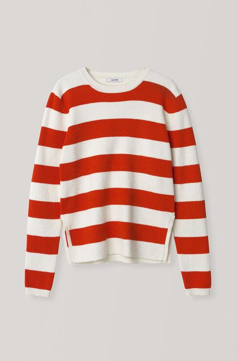Poppy Knit Pullover, Egret, hi-res