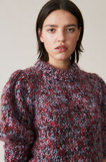 The Julliard Mohair Puff Sleeve Pullover, Serenity Blue, hi-res