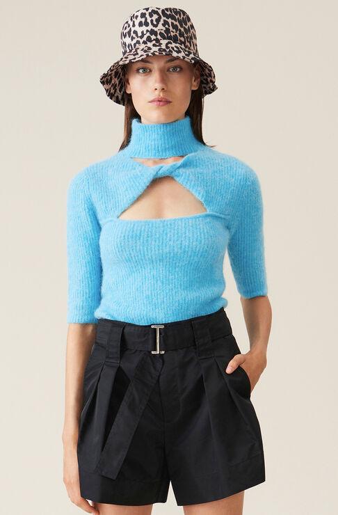 Ganni Wools SOFT WOOL KNIT TOP