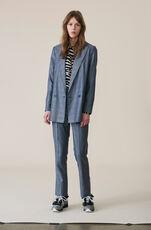 Silk Wool Suiting Blazer, Serenity Blue, hi-res