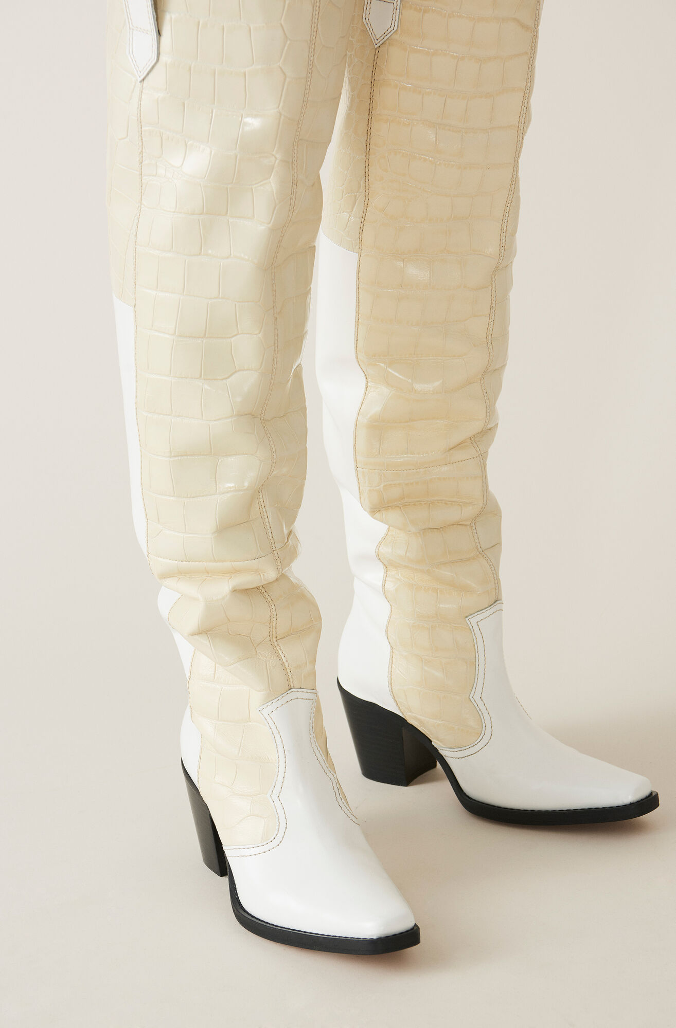 High Western Boots, Bright White, hi-res