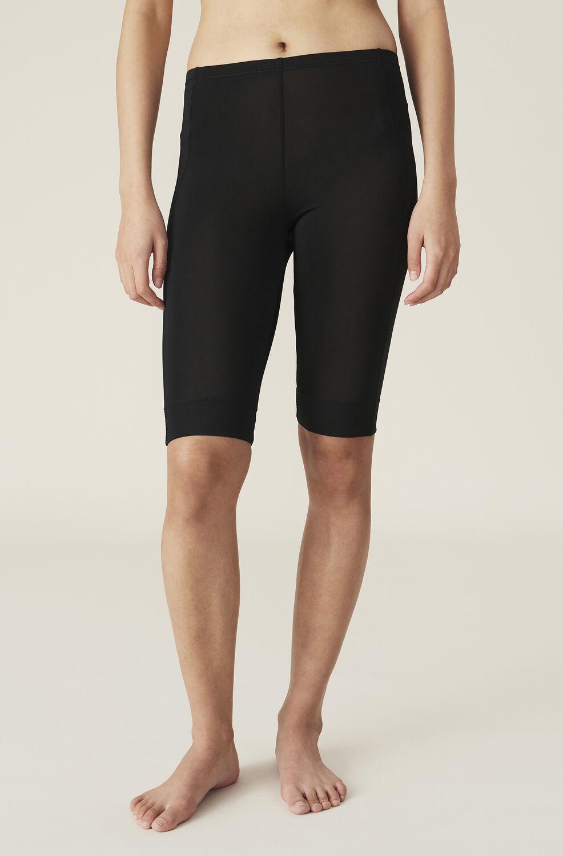 Ganni Rayon Underwear Short Leggings,Black
