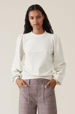 Velvet Jersey Puff Sweatshirt, Egret, hi-res