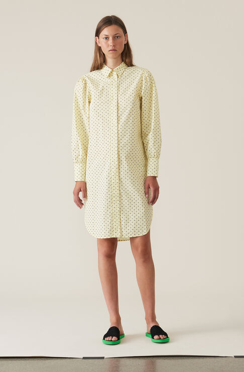 Bijou Shirt Dress, Anise Flower, hi-res