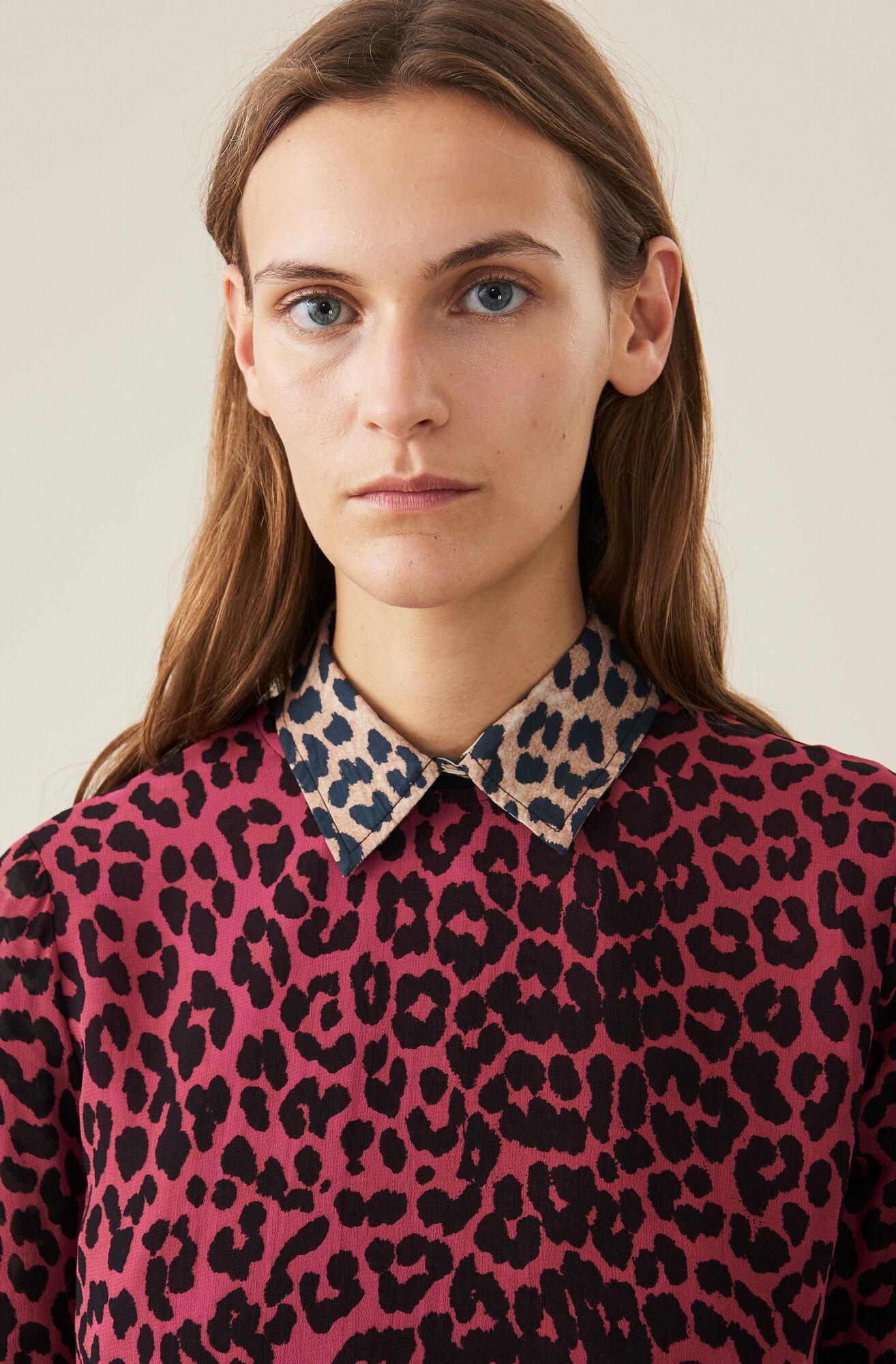 Carnivora Leopard Love for Leopard Mini Dress, Hot Pink, hi-res