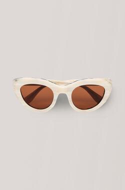 Triangle Sunglasses Solbriller, White, hi-res