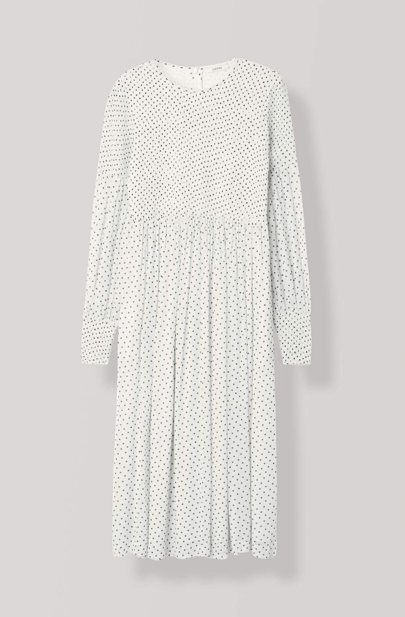 Rometty Georgette Smock Dress, Egret, hi-res