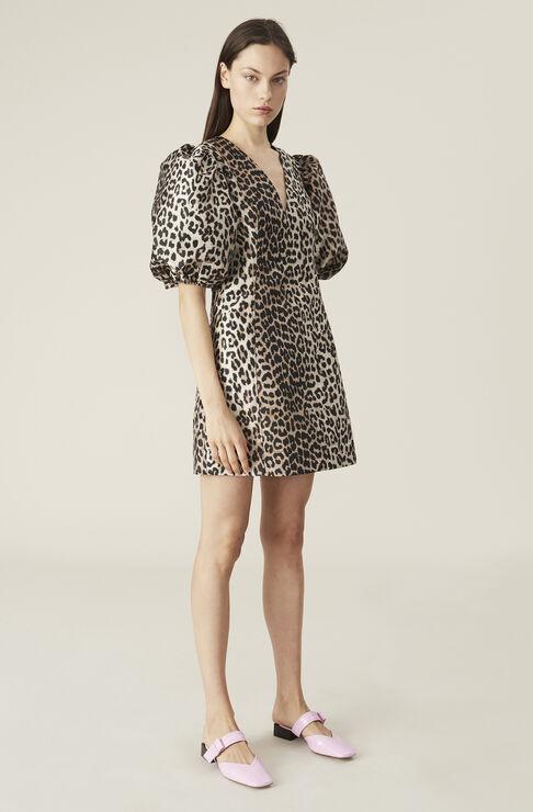 Ganni Mini dresses CRISPY JACQUARD MINI DRESS