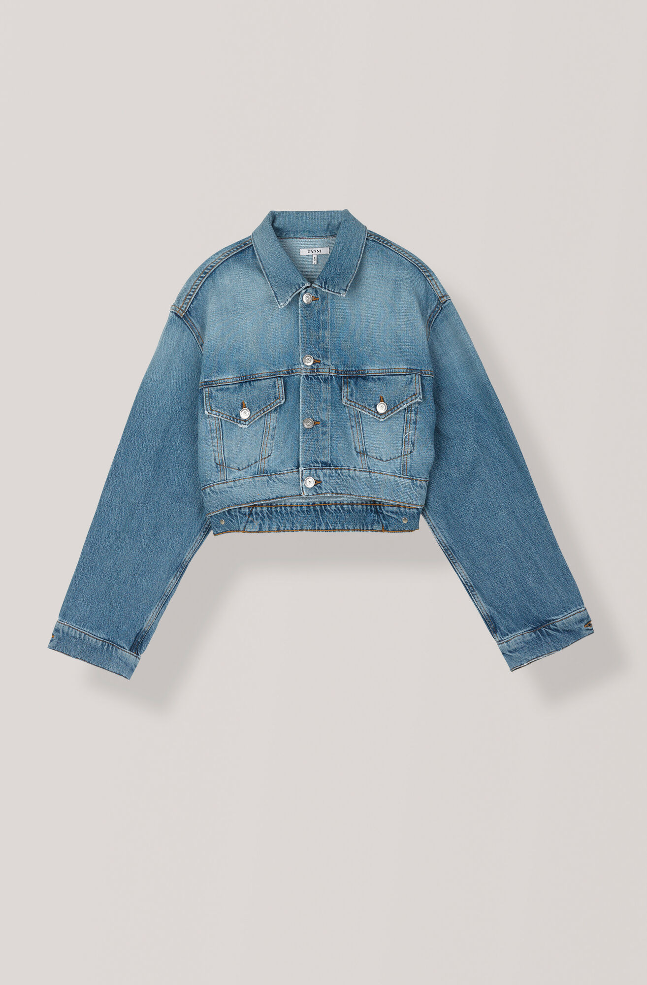 Denim Jacket, Light Denim, hi-res