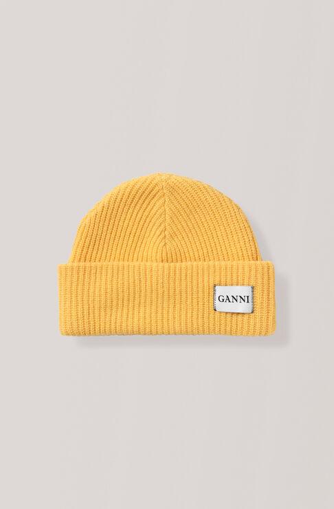 Knit Hat, Lemon, hi-res