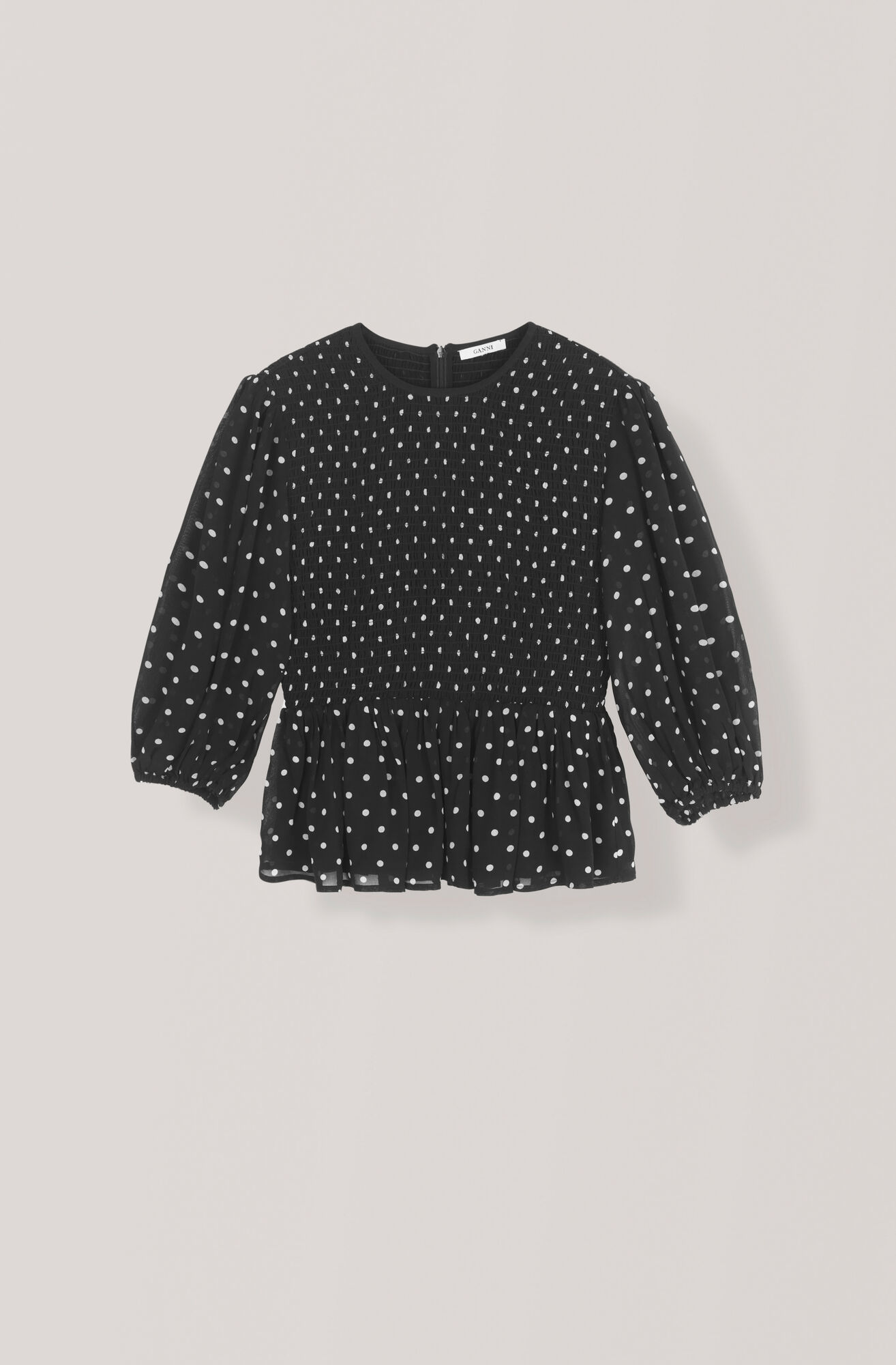 Merton Georgette Blouse, Black, hi-res