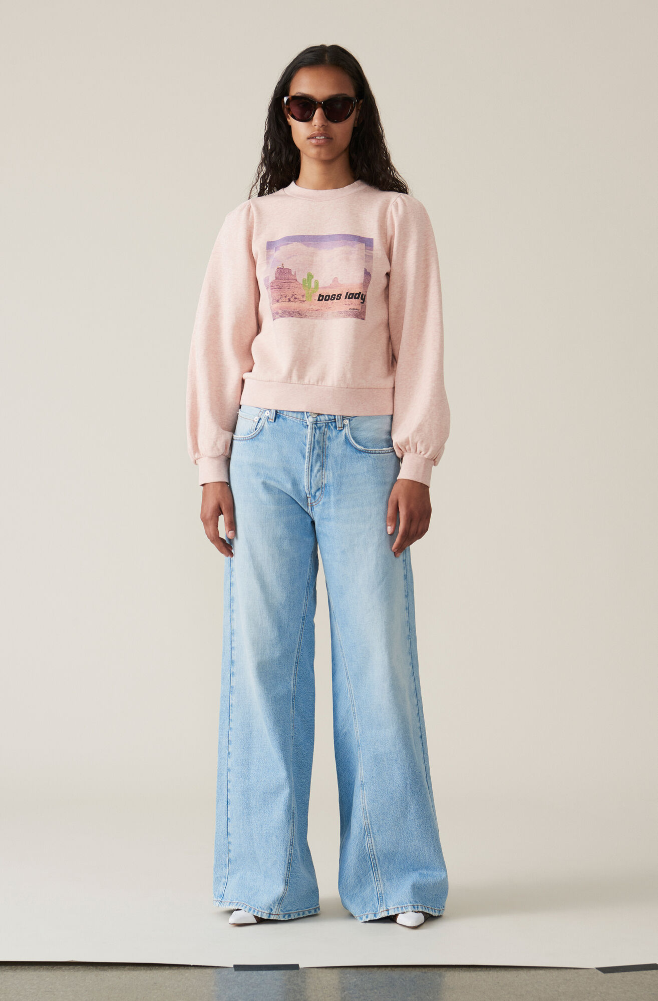 Isoli Puff Sweatshirt, Boss Lady, Silver Pink, hi-res