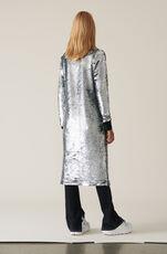 Sequins Wrap Dress, Silver, hi-res