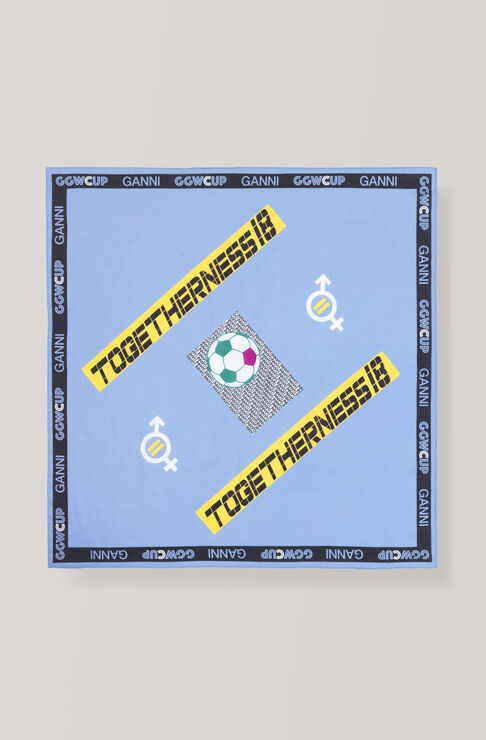 GANNI x GGWCUP Togetherness Bandana, Lapis Blue, hi-res