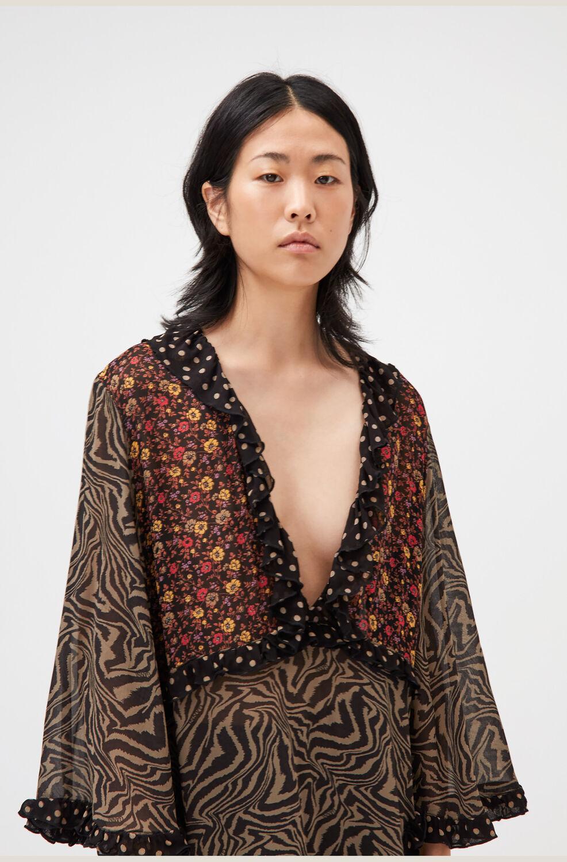 가니 패치워크 조젯 맥시 원피스 Ganni Patchwork Georgette Maxi Dress,Multicolour