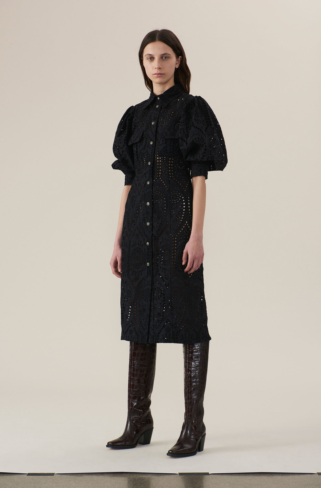 best quality later new arrival Broderie Anglaise Maxi Dress