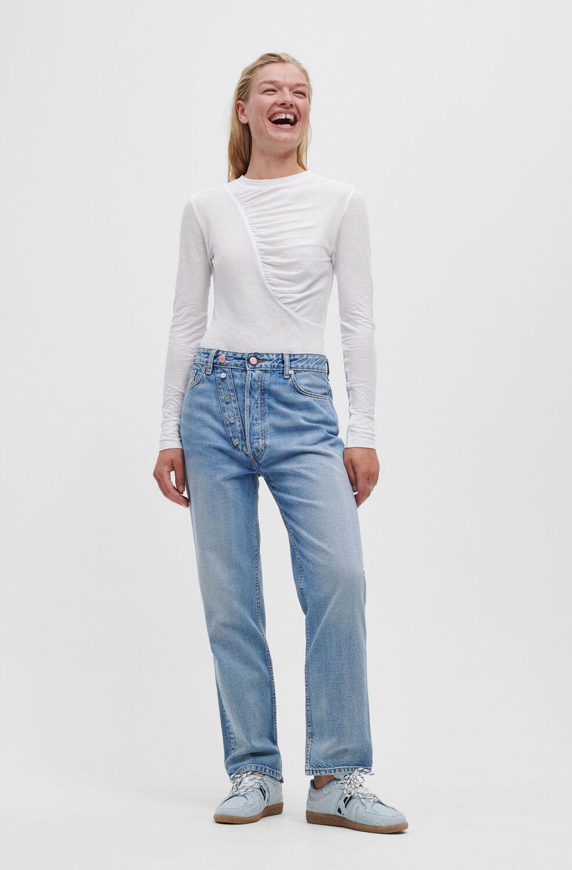 가니 청바지 Ganni Figni Jeans,Light Blue Vintage