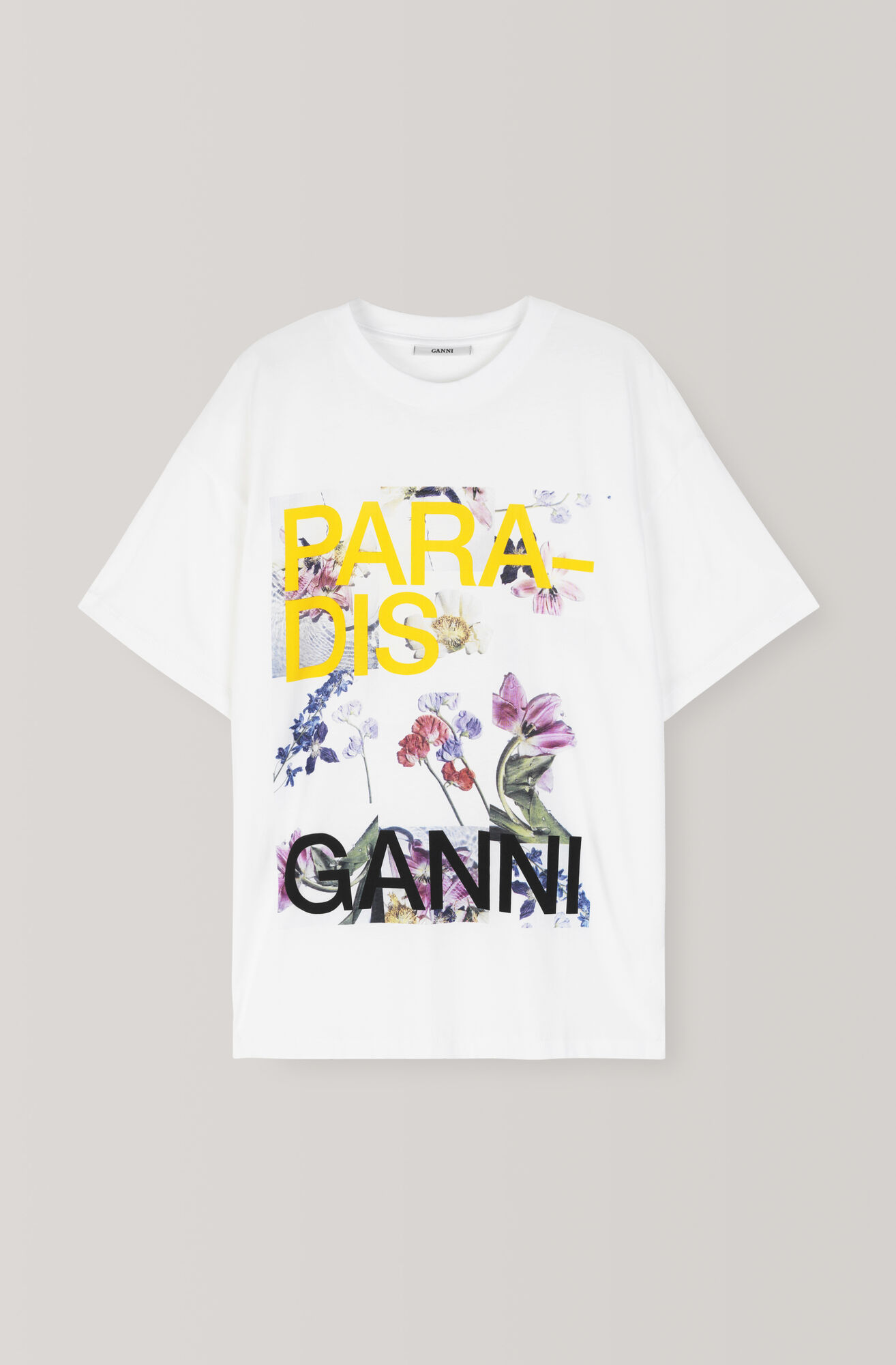 Oversized Light Cotton Jersey T-shirt, Paradis, Bright White, hi-res
