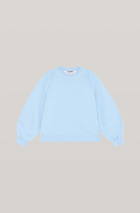 Ganni SOFTWARE ISOLI PUFF SLEEVE SWEATSHIRT