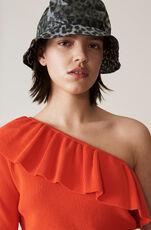 Poppy Knit One-Shoulder Blouse, Big Apple Red, hi-res