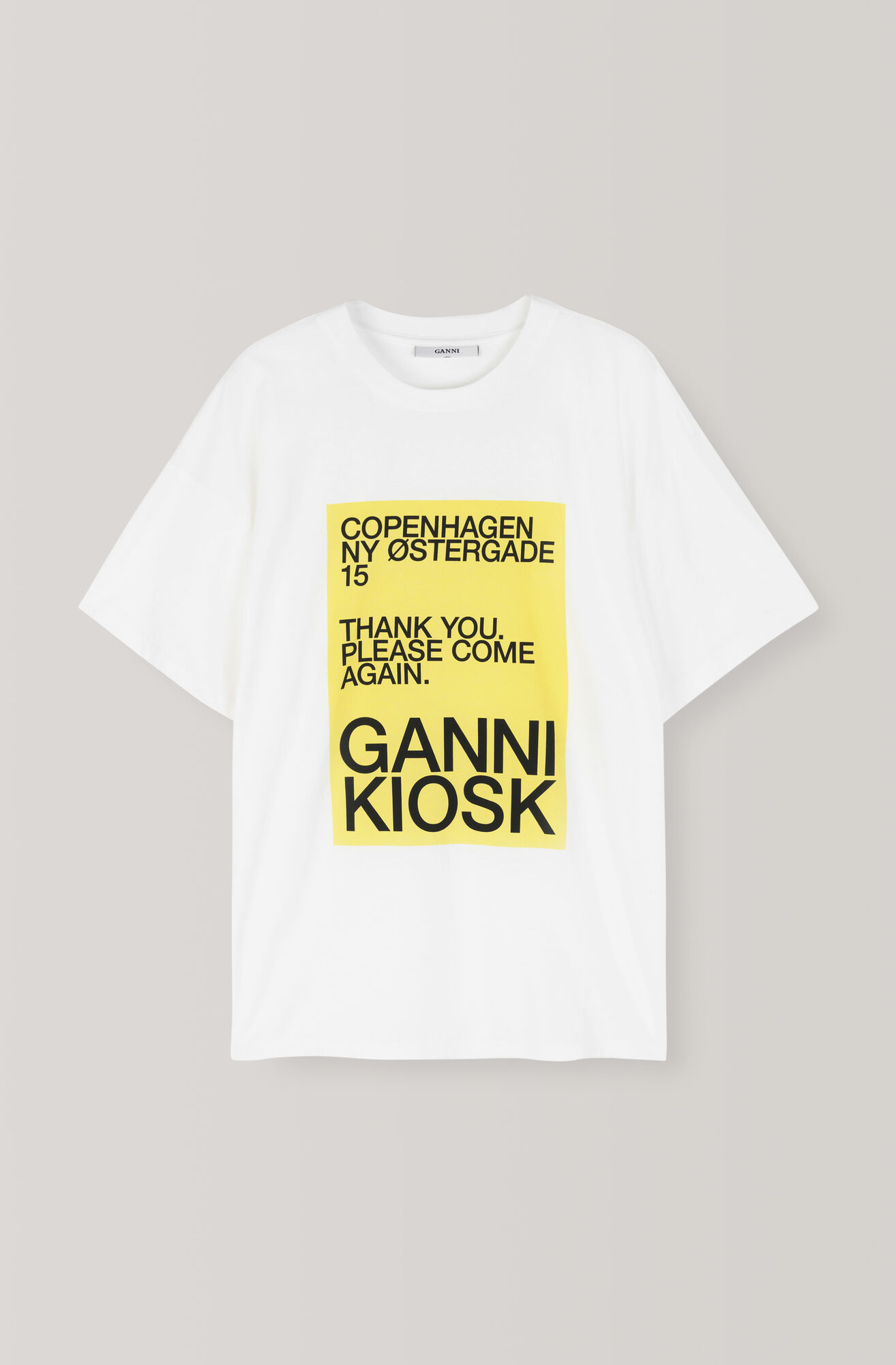Dalby T-shirt, Bleached Yellow, Bright White, hi-res