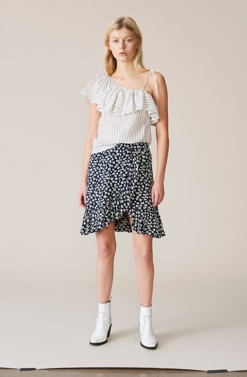 Roseburg Crepe Mini Skirt, Total Eclipse, hi-res